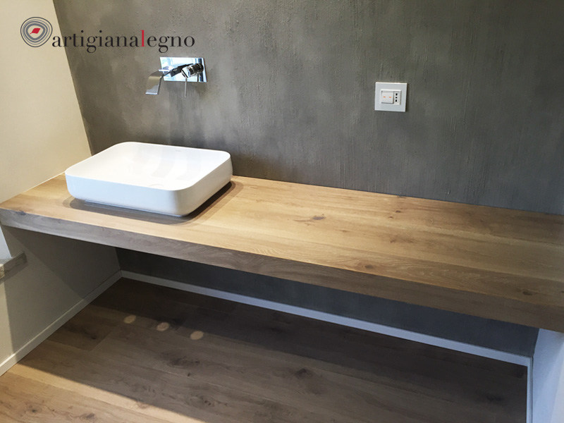 Mobile Bagno Ante Scorrevoli.Mobili Bagno Artigiana Legno