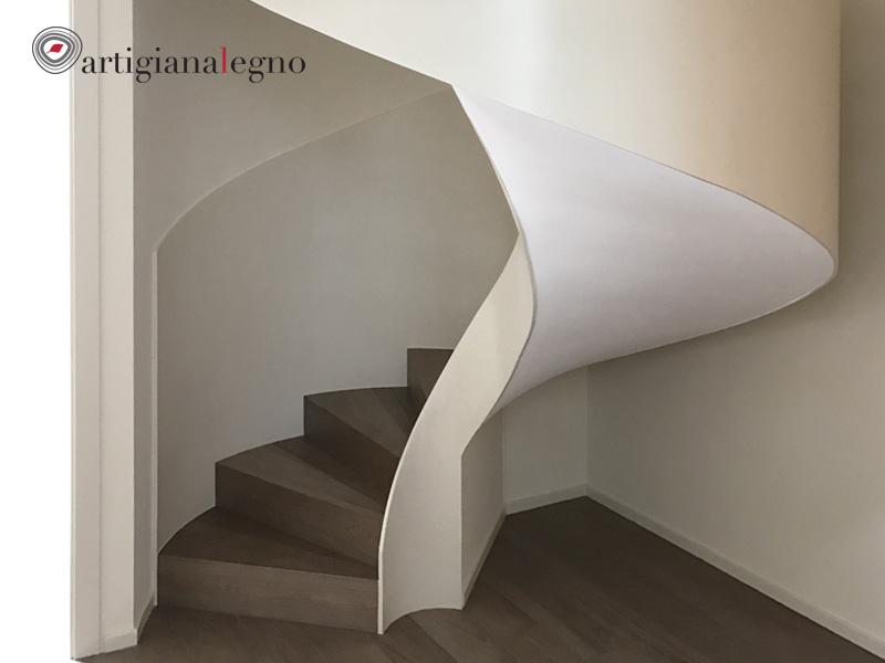 Corrimano scale in legno di scala in muratura con scala - Corrimano scale esterne ...